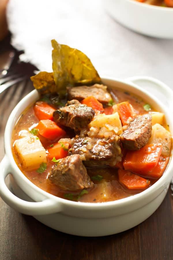 Heart Healthy Beef Stew  Healthier Slow Cooker Beef Stew Primavera Kitchen