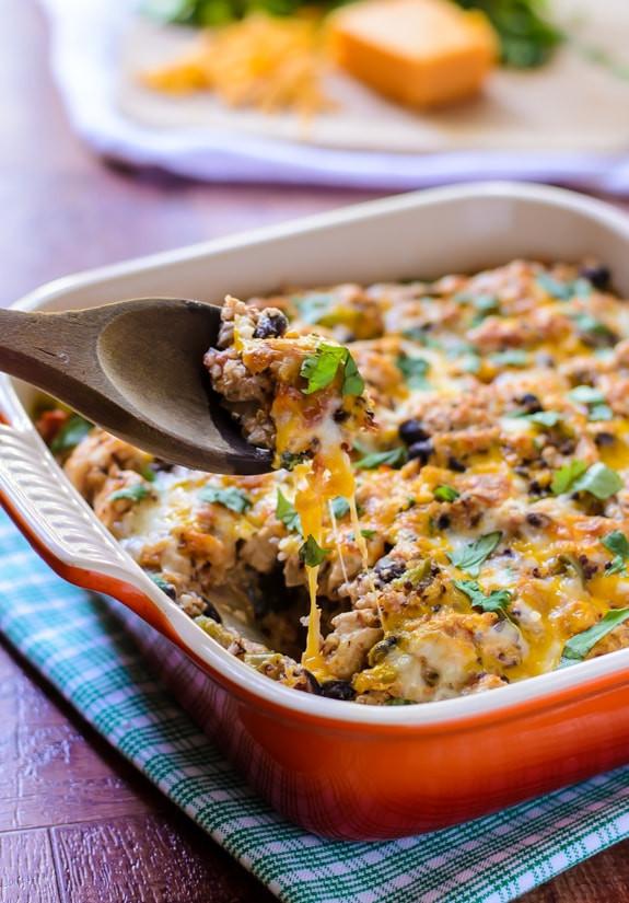 Heart Healthy Chicken Casseroles  Mexican Chicken Quinoa Casserole