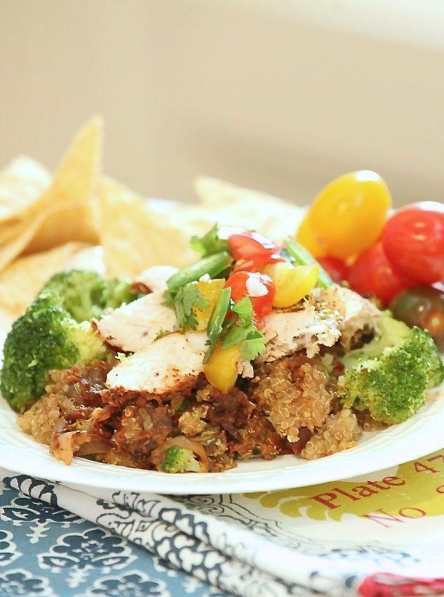 Heart Healthy Crock Pot Recipes  Check out Slow Cooker Chicken Enchilada Quinoa Bake Low