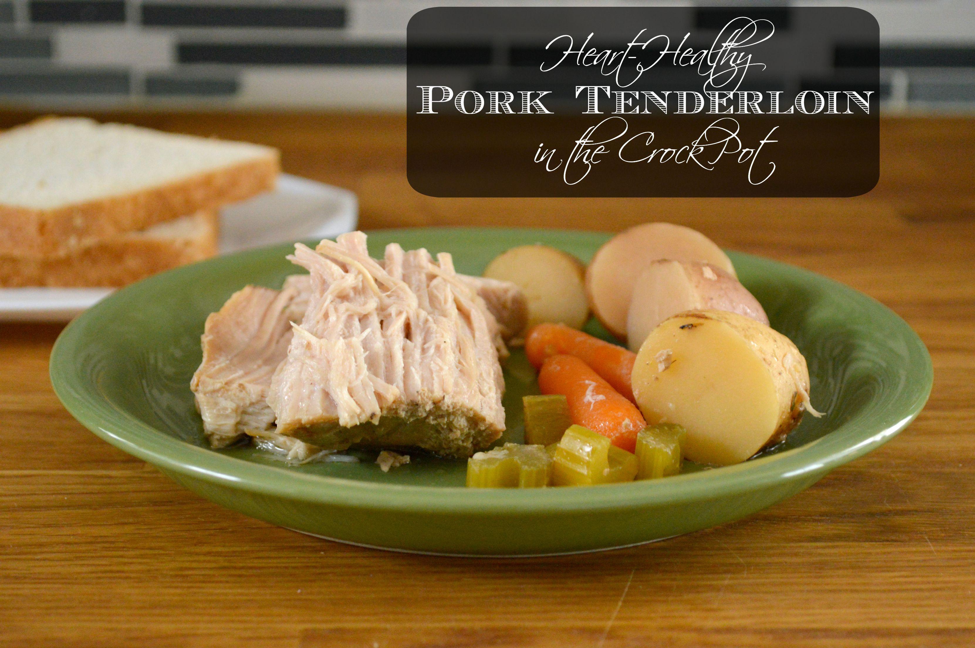 Heart Healthy Crock Pot Recipes  Heart Healthy Crock Pot Pork Tenderloin SoFabFood