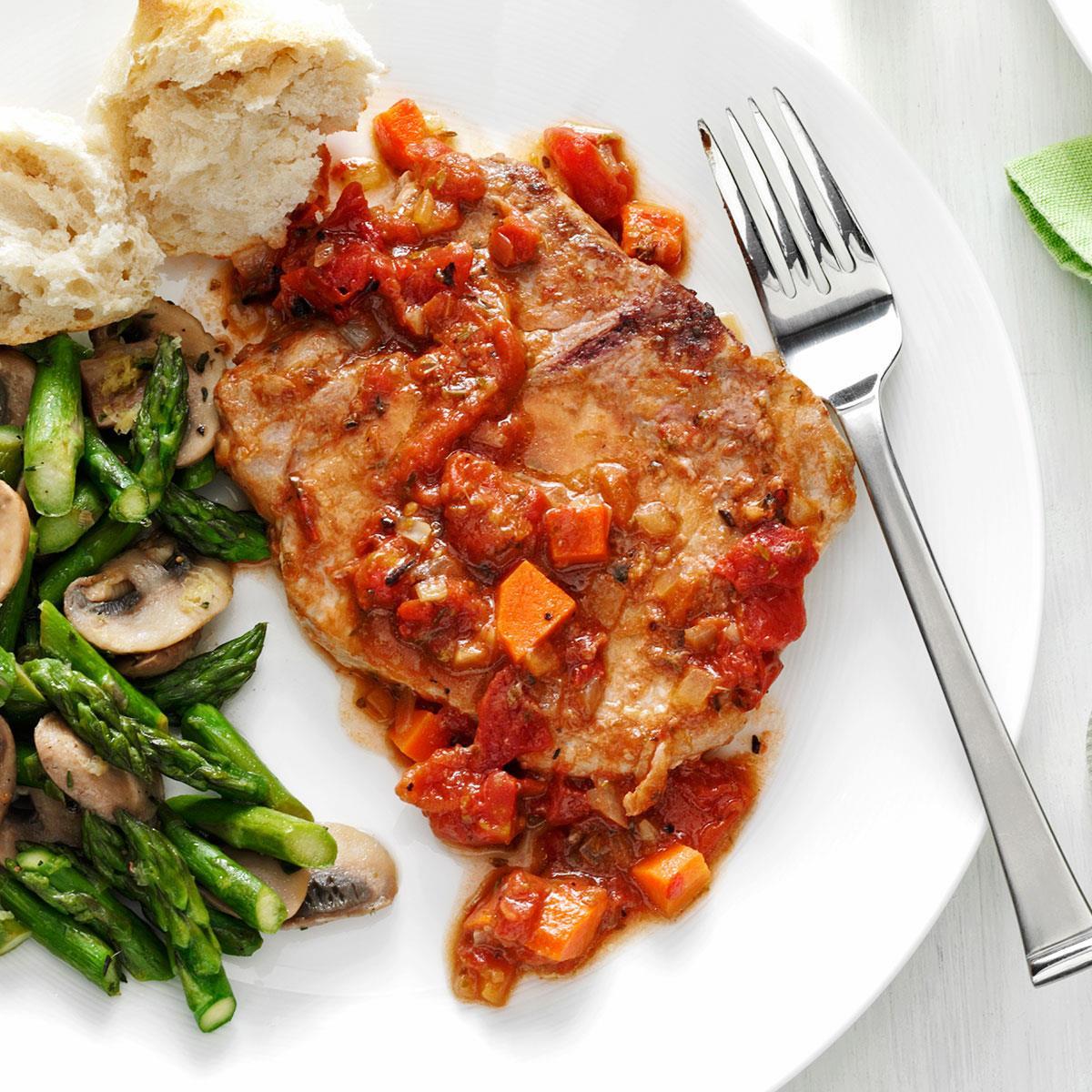 Heart Healthy Pork Chop Recipes  Tomato Topped Italian Pork Chops