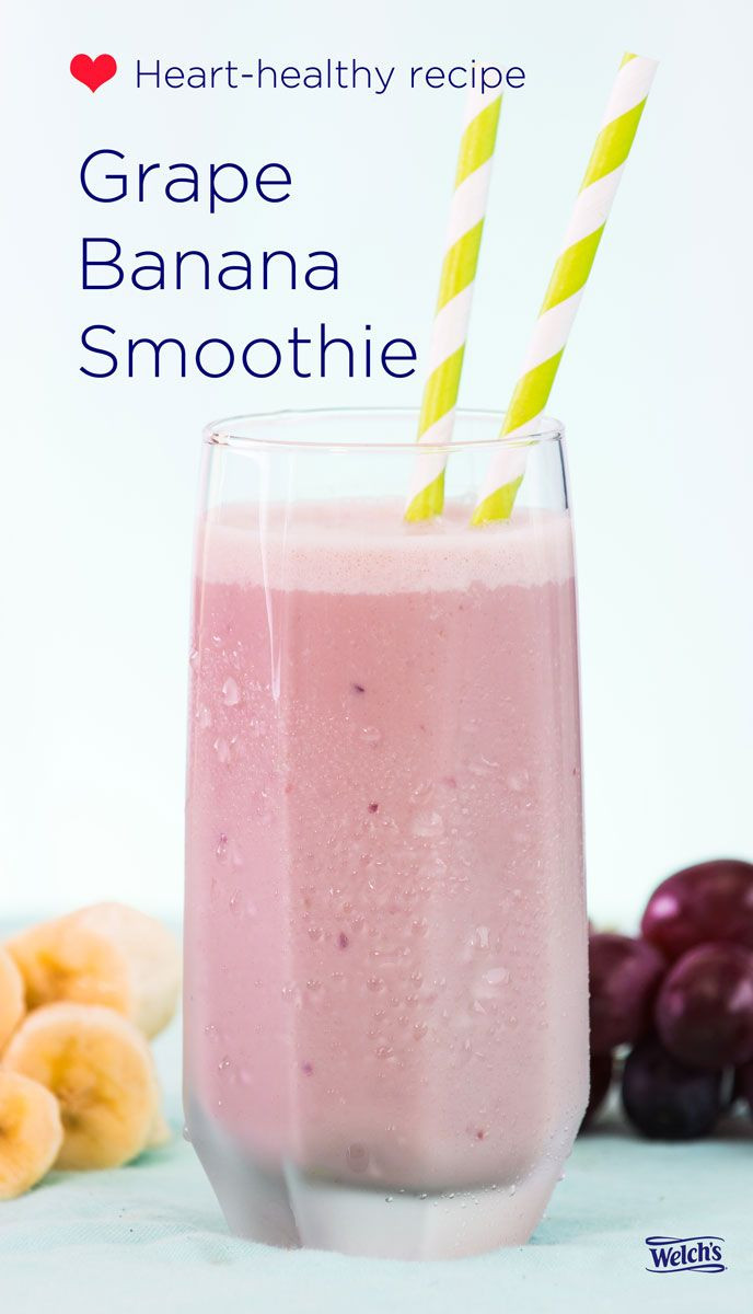 Heart Healthy Smoothie Recipes 25 best ideas about Grape Smoothie on Pinterest