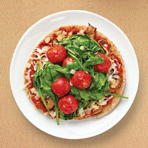 Heart Healthy Snack Recipes  Ve able Wheat Pita Pizza Recipe