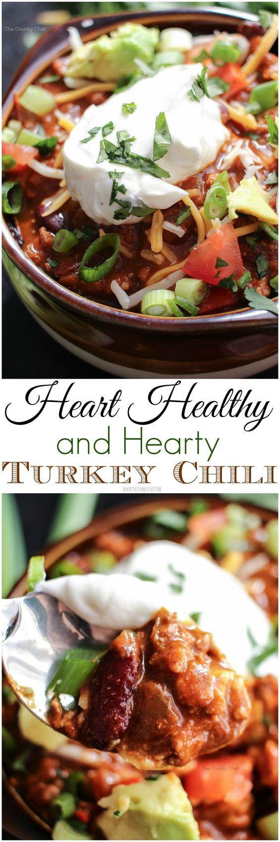 Heart Healthy Thanksgiving Recipes  Heart Healthy Turkey Chili Recipe