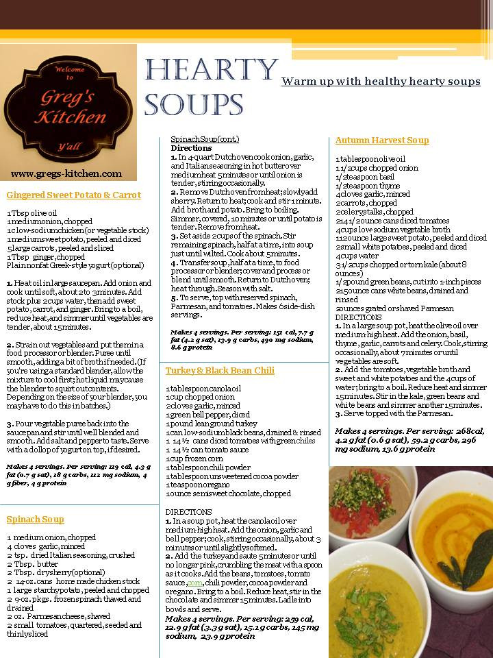 Hearty Healthy Soups  Hearty Healthy Soups