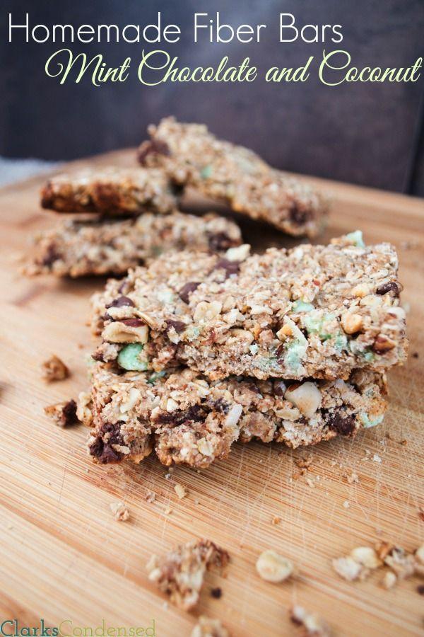High Fiber Bars Recipes  Mint Chocolate and Coconut Fiber Bars Recipe