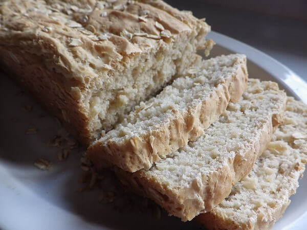 High Fiber Bread Machine Recipe  Light Oat Bread