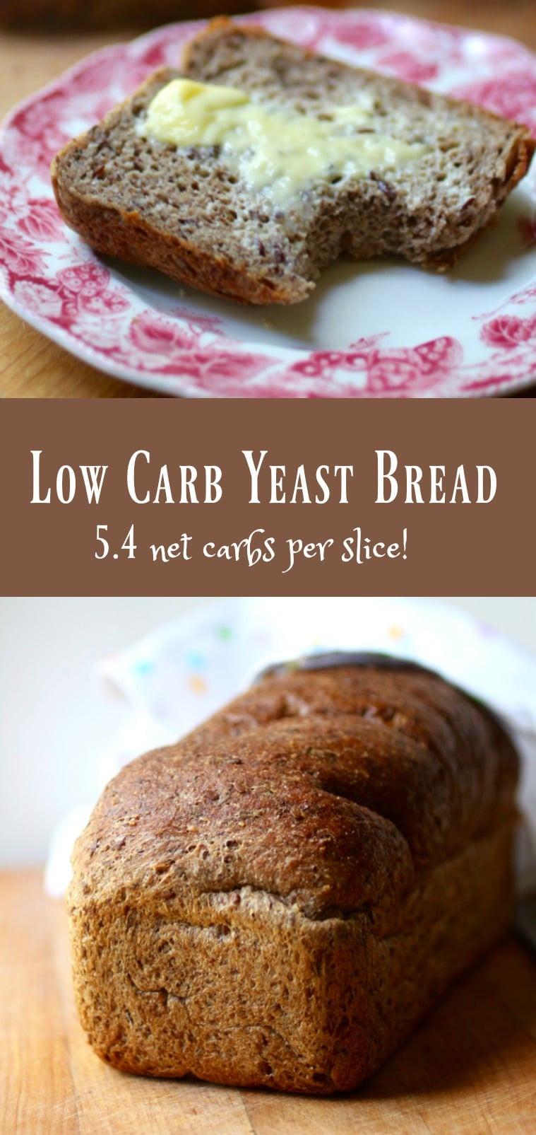 High Fiber Bread Machine Recipe  Low Carb Yeast Bread Keto Sandwich Bread lowcarb ology