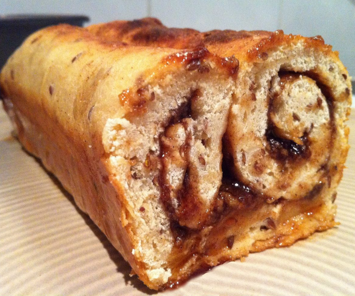 High Fiber Bread Machine Recipes  Super High Fiber Cinnamon Walnut Swirl Breakfast Bread