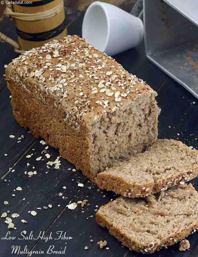 High Fiber Bread Recipe  Low Salt High Fiber Multigrain Bread recipe
