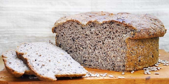 High Fiber Bread Recipe  Easy No Knead Gluten Free Rustic Bread