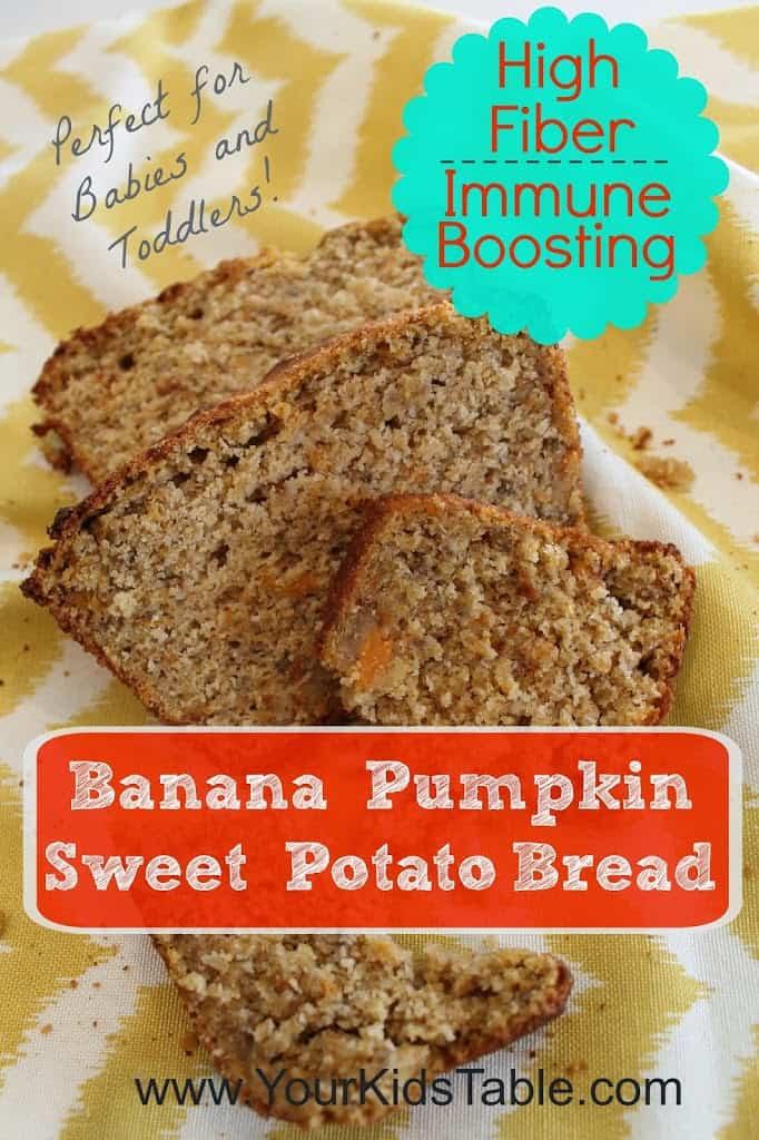 High Fiber Bread Recipe  High Fiber Immune Boosting Banana Sweet Potato Pumpkin