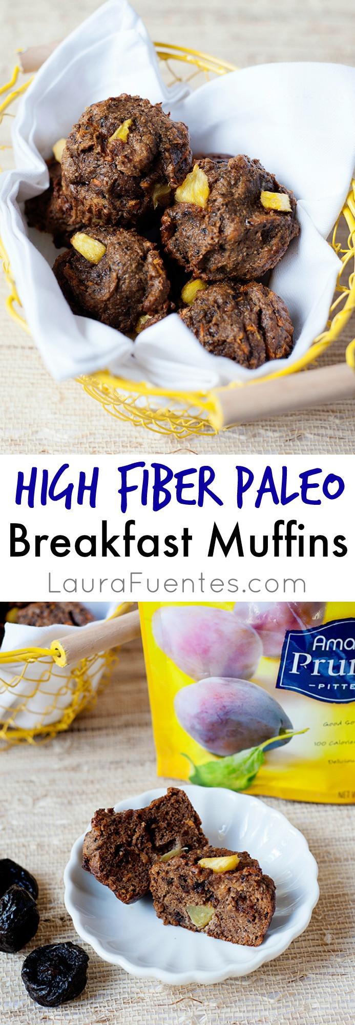 High Fiber Breakfast Recipe  High Fiber Paleo Breakfast Muffins