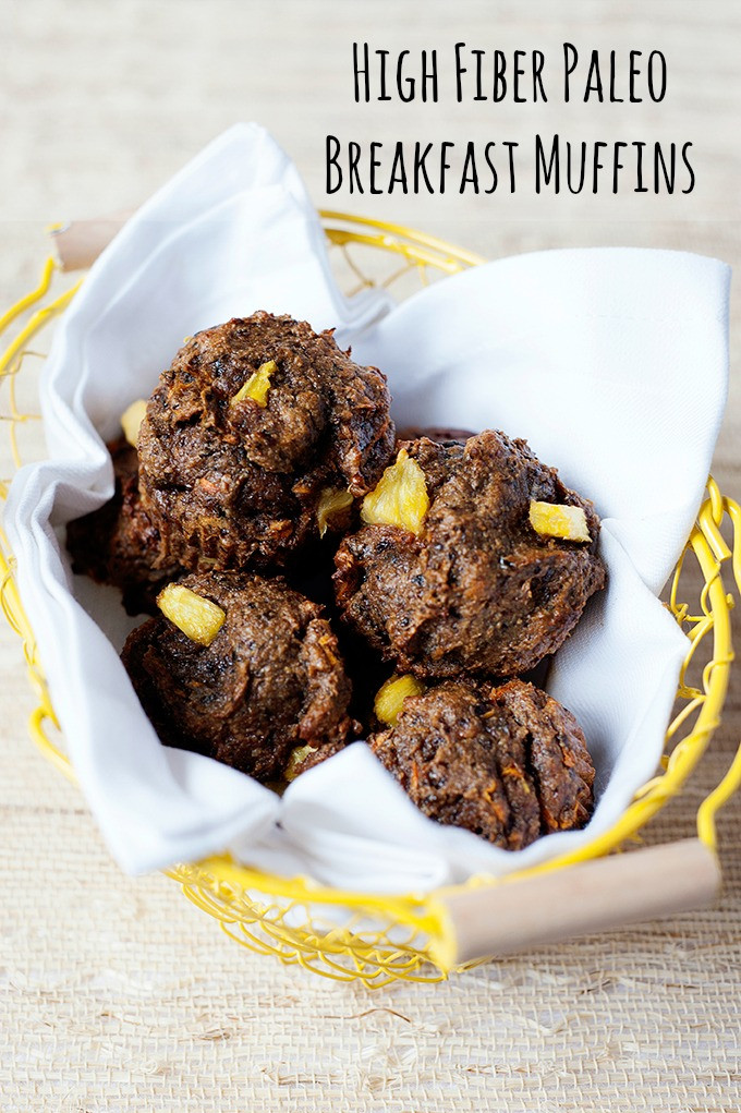 High Fiber Breakfast Recipes  High Fiber Paleo Breakfast Muffins