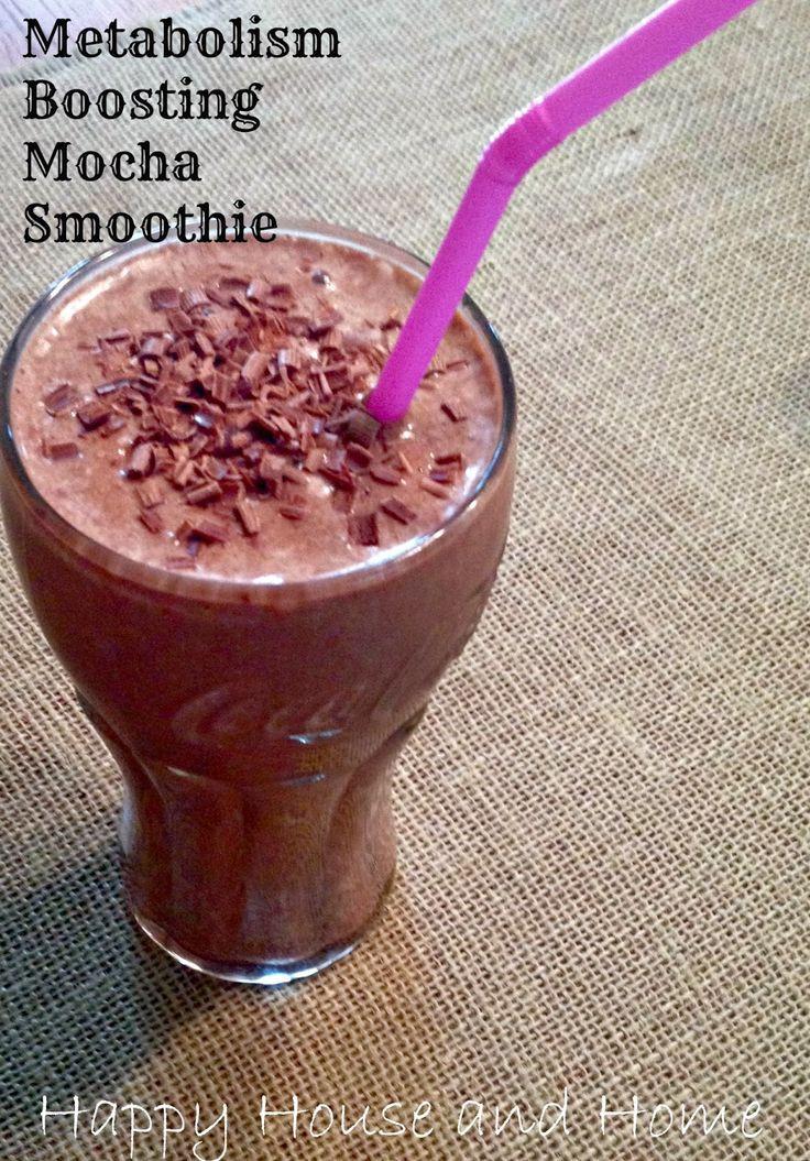 High Fiber Breakfast Smoothies  Metabolism Boosting Mocha Smoothie Tastes like a