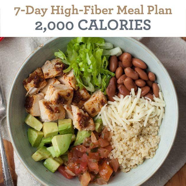 High Fiber Chicken Recipes  7 Day High Fiber Meal Plan 2 000 Calories