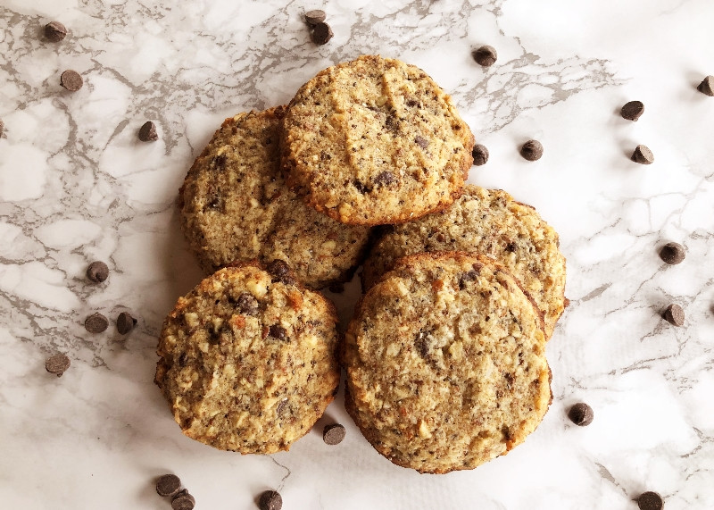 High Fiber Cookie Recipes  Keto Chocolate Chip High Fiber Cookies