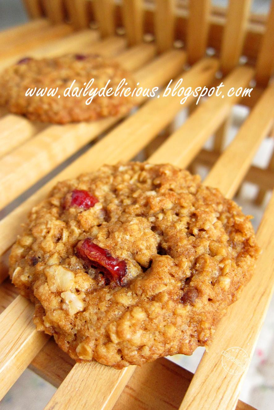 High Fiber Cookie Recipes  dailydelicious High Fiber Oat and Cranberry Cookies