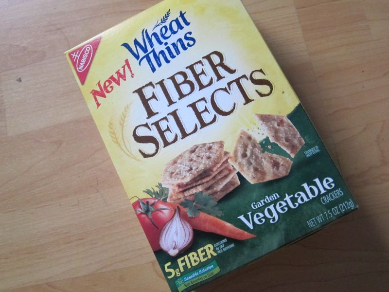 High Fiber Crackers  Review Nabisco Wheat Thins Fiber Selects Garden