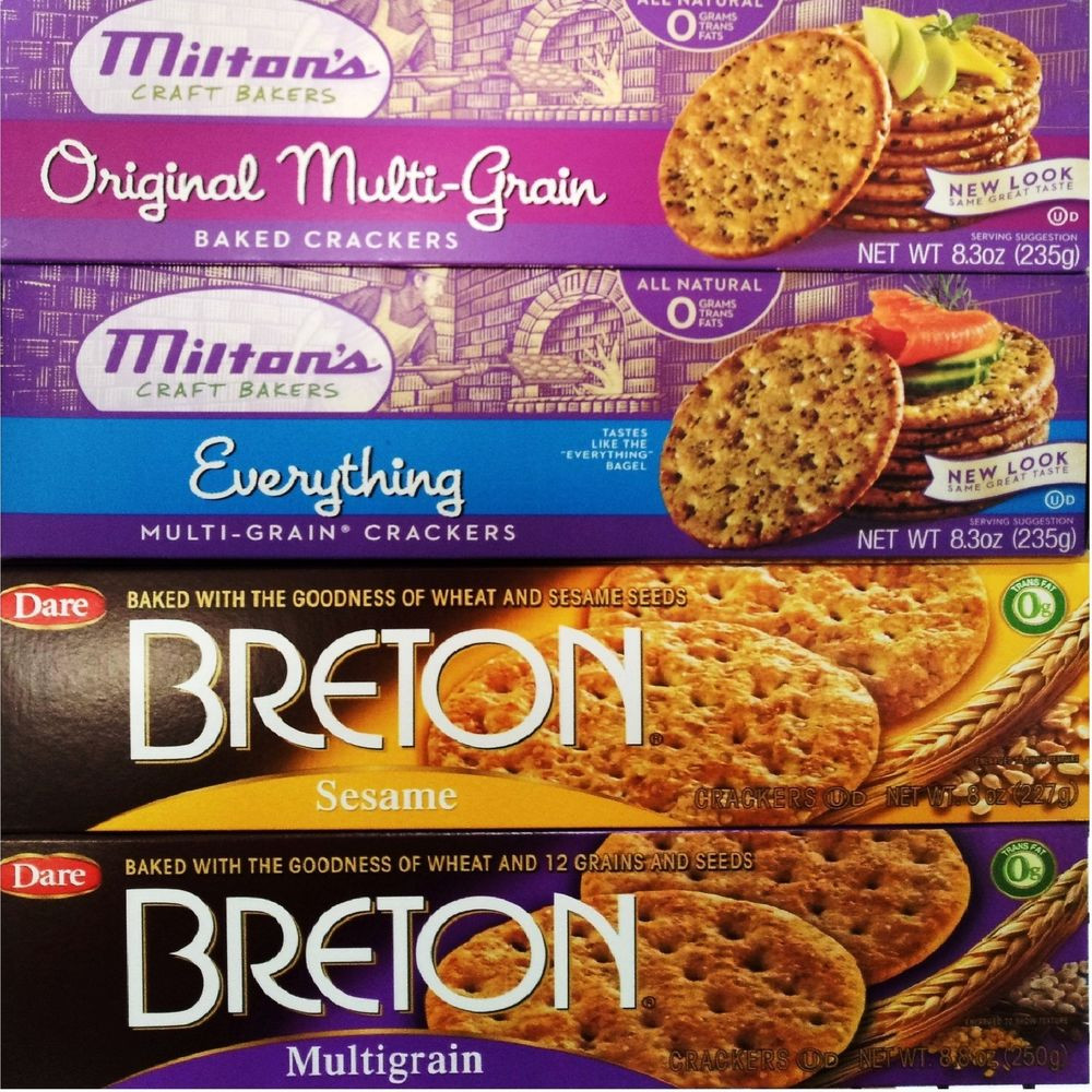 High Fiber Crackers  Milton s Craft Bakers Breton Baked Whole Grain High Fiber
