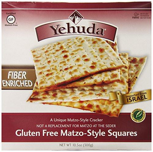 High Fiber Crackers  Yehuda Gluten Free High Fiber Matzo Style Squares 10 5