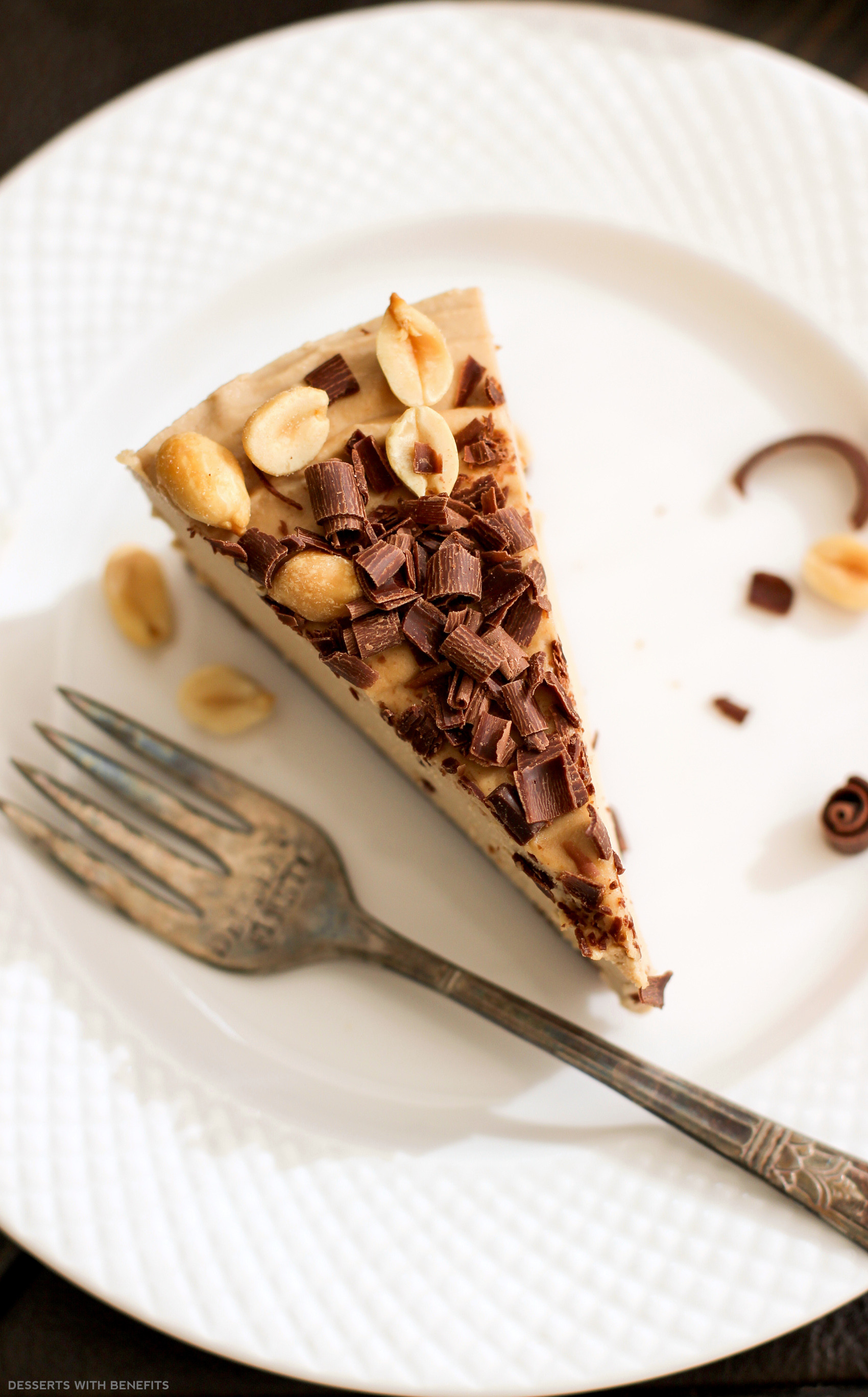 High Fiber Desserts  Healthy Chocolate Peanut Butter Raw Cheesecake vegan low