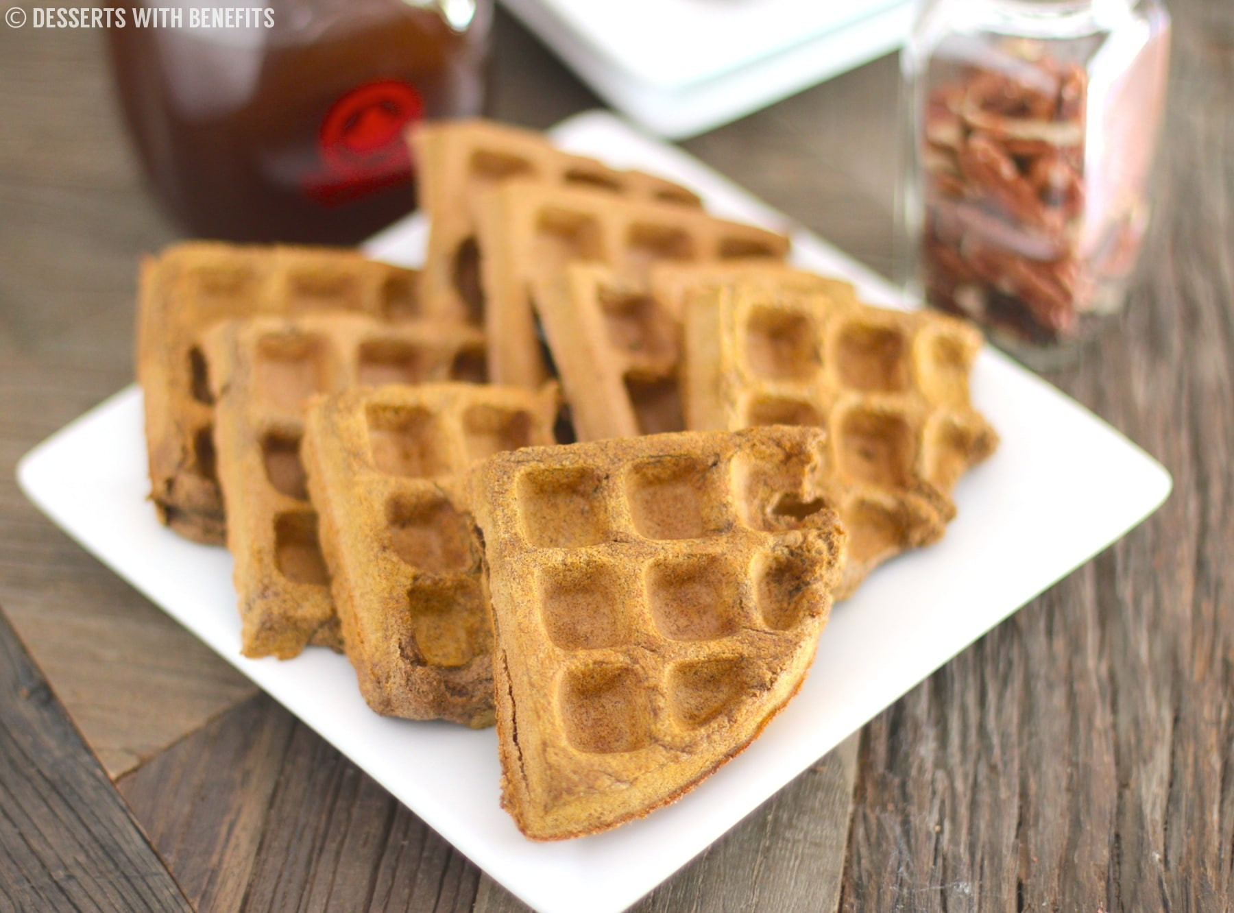 High Fiber Desserts  Healthy Pumpkin Buckwheat Waffles gluten free vegan