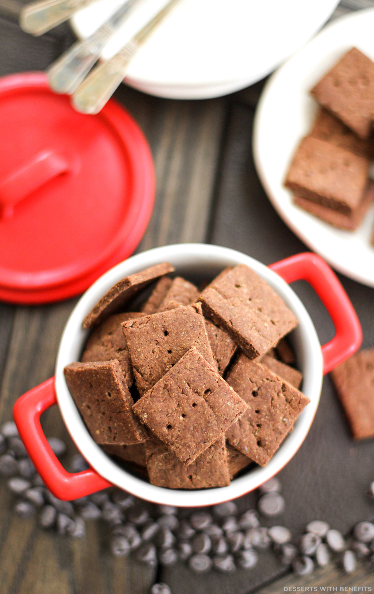 High Fiber Desserts  Desserts With Benefits Healthy Chocolate Flax Crackers
