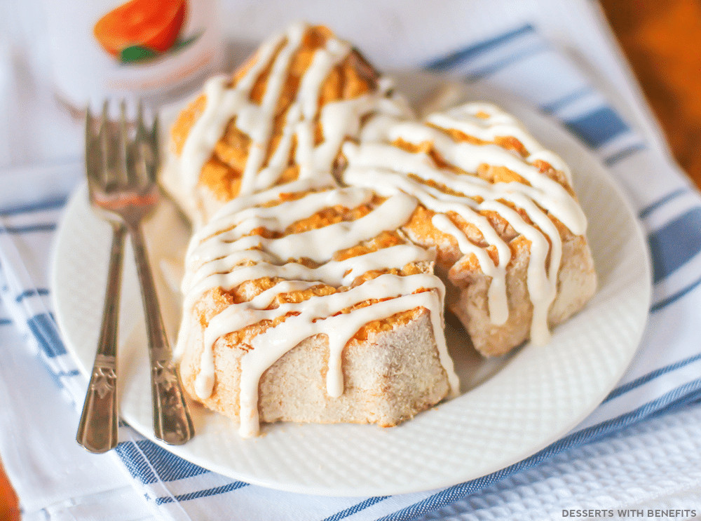 High Fiber Desserts  Healthy Orange Sweet Rolls refined sugar free gluten free