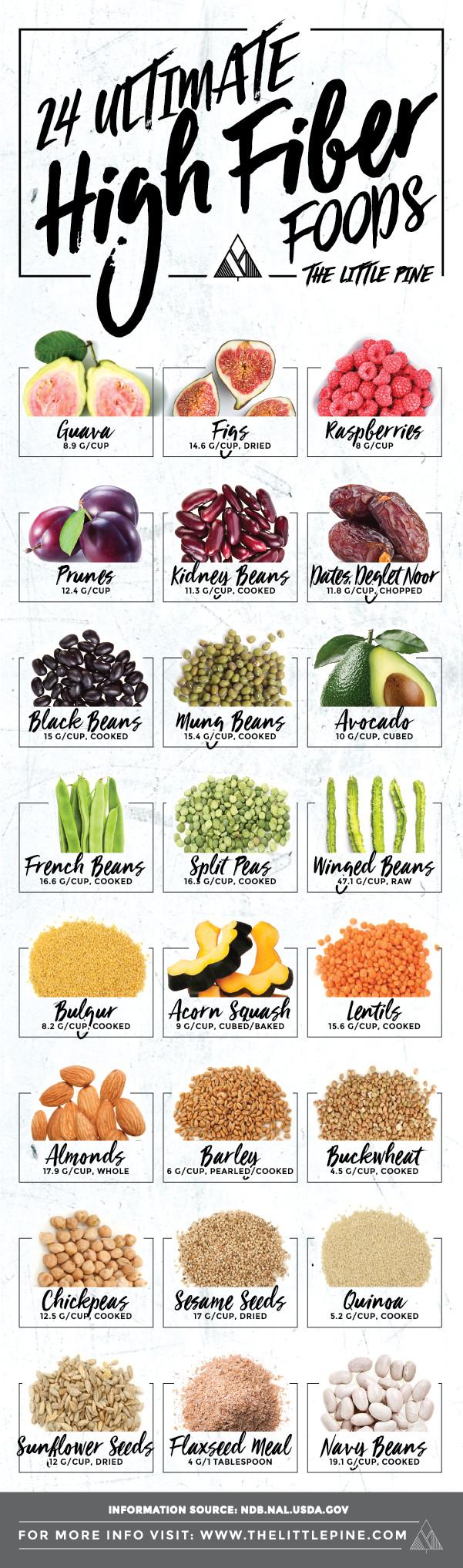High Fiber Diet Recipes  24 Ultimate High Fiber Foods Little Pine Low Carb