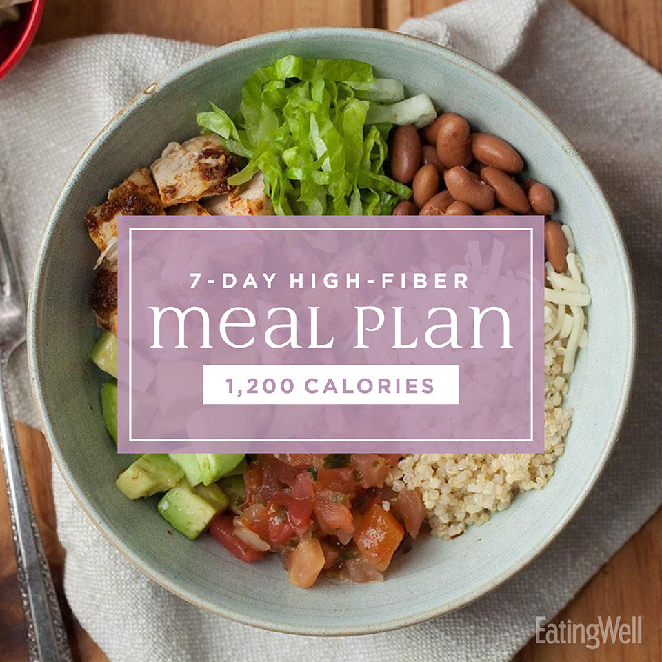High Fiber Dinners  7 Day High Fiber Meal Plan 1 200 Calories EatingWell