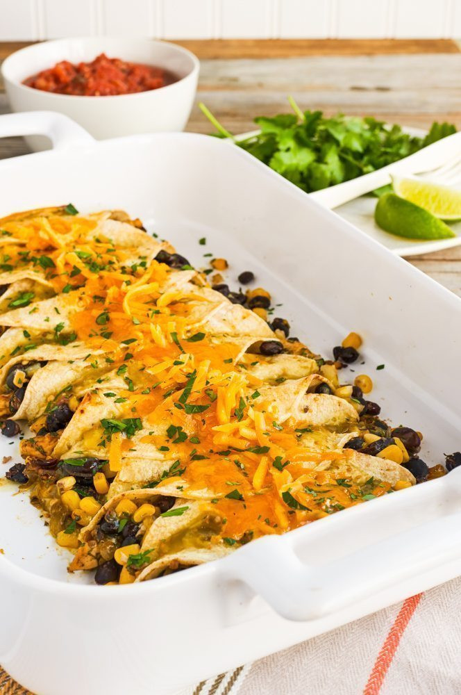 High Fiber Dinners  High Fiber Chicken and Black Bean Enchiladas Hello