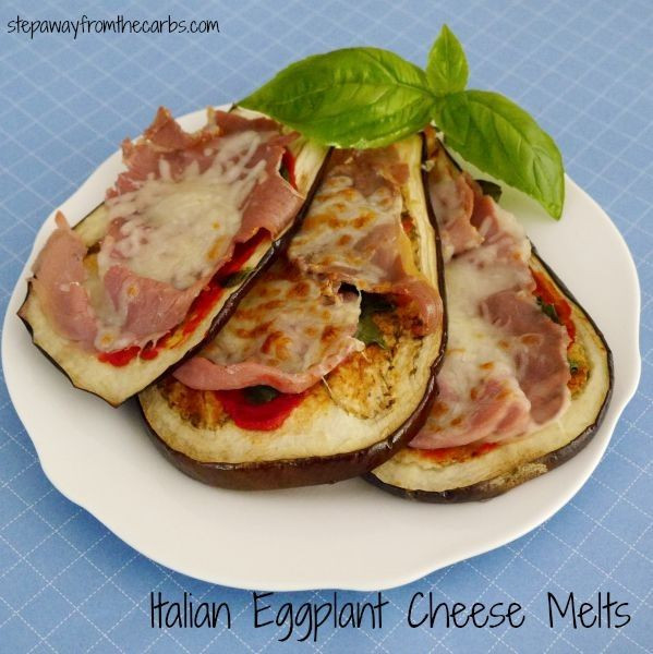 High Fiber Keto Recipes  Italian Eggplant Cheese Melts low in carbs and high in