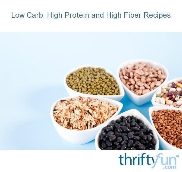 High Fiber Low Carb Recipes  Low Carb High Protein and High Fiber Recipes