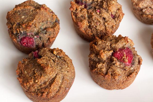 High Fiber Muffin Recipes  Movin Along Raspberry Fiber Muffins