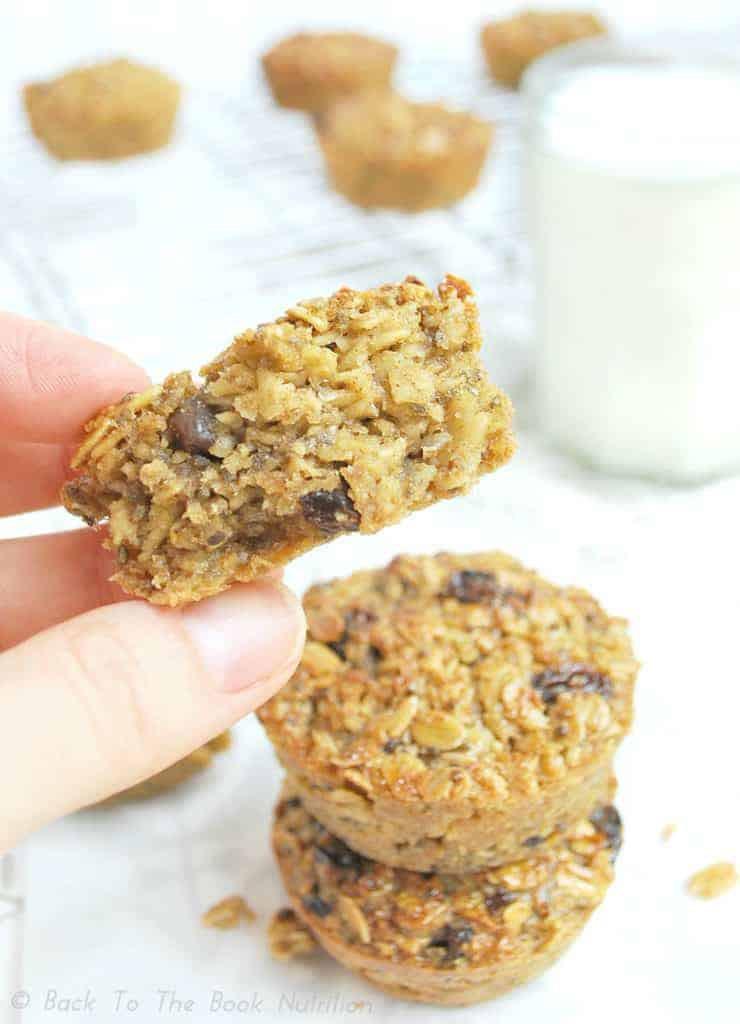 High Fiber Oatmeal Cookies  Oatmeal Raisin Breakfast Cookies GF DF No refined sugar