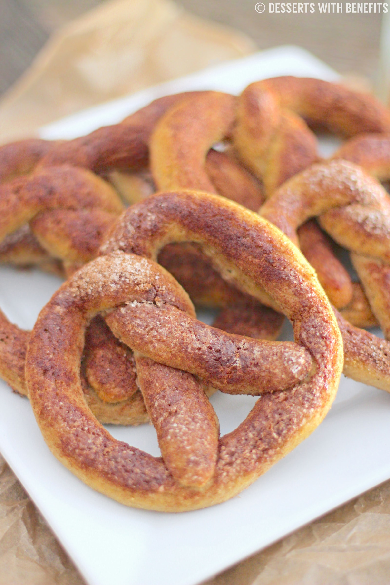 High Fiber Pretzels  Gluten Free Cinnamon Sugar Soft Pretzels