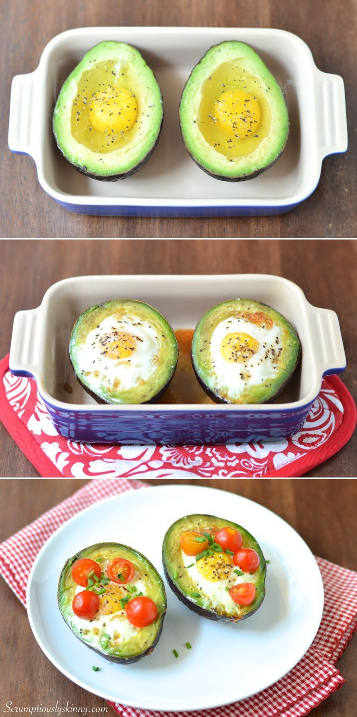 High Fiber Recipes  Baked Egg in Avocado Nest Recipe