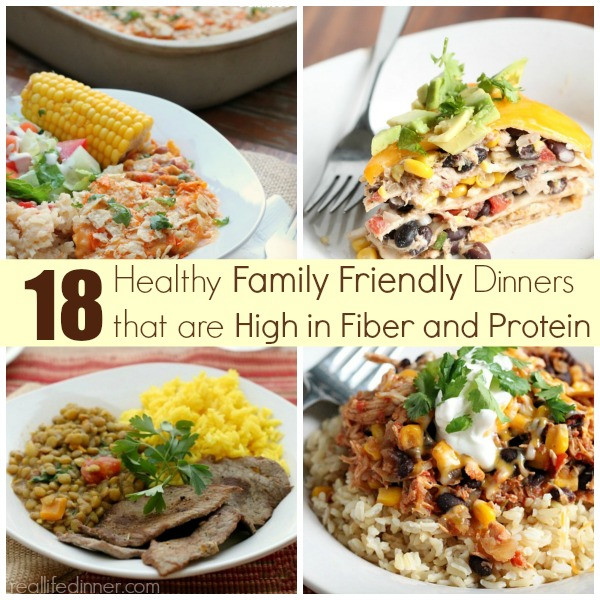 High Fiber Recipes For Lunch  High Fiber and Protein Dinner Ideas Real Life Dinner