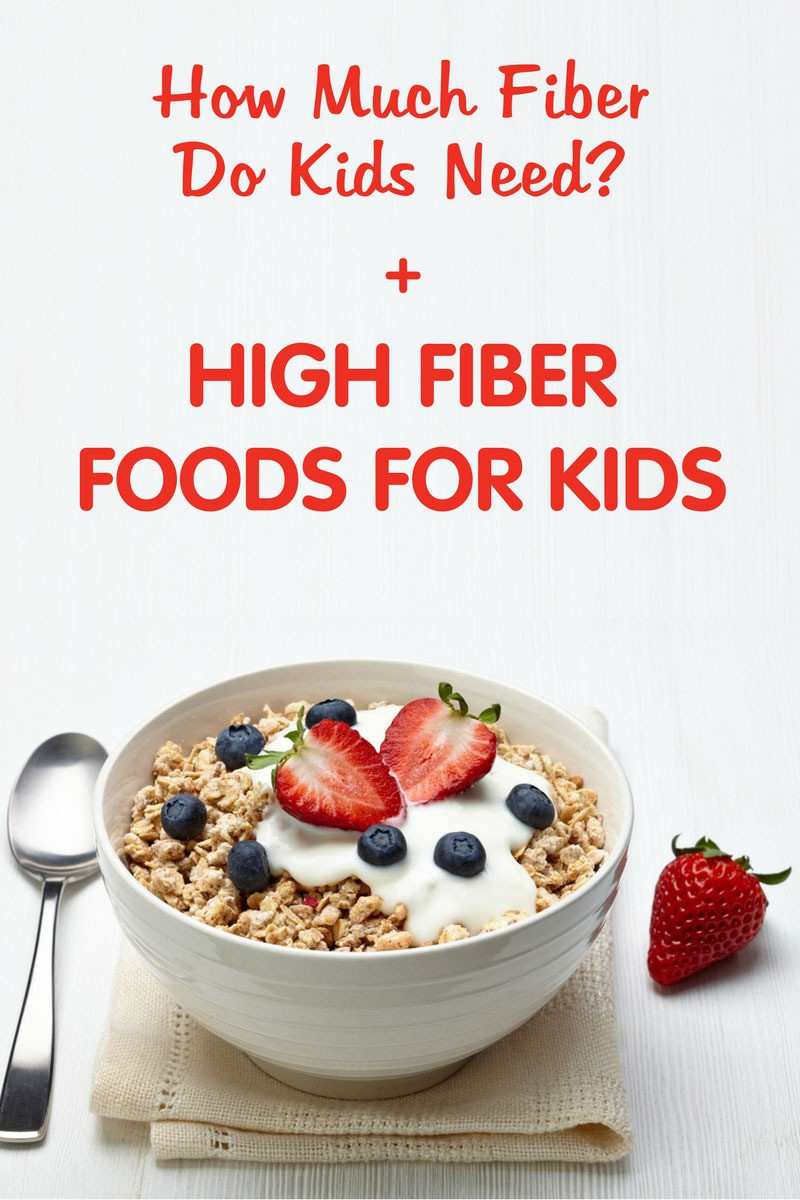 High Fiber Recipes For Toddlers  High Fiber Foods for Kids How Much Fiber Do Kids Need