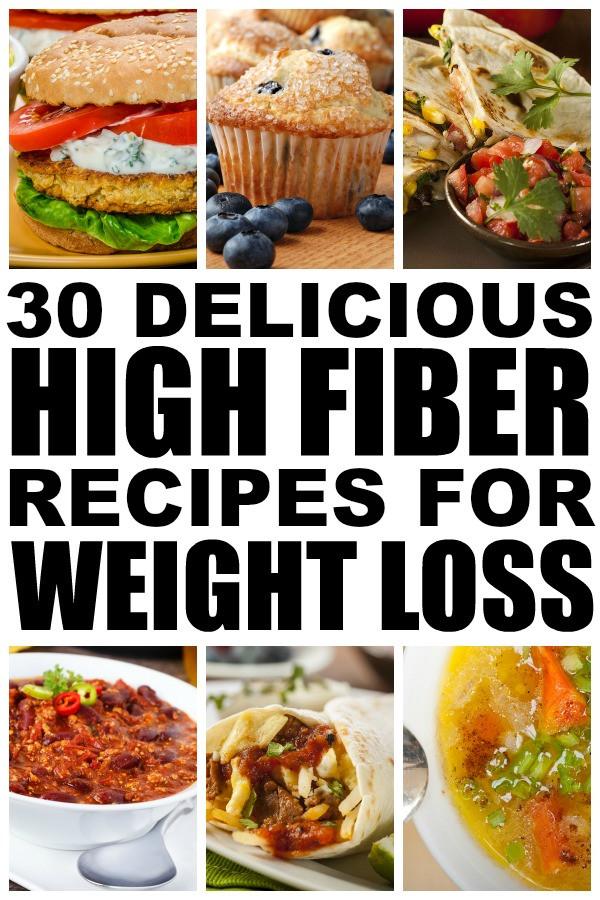 High Fiber Recipes For Weight Loss  30 high fiber meals for weight loss