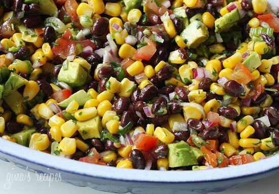 High Fiber Side Dishes  Southwestern Black Bean Salad This colorful high fiber