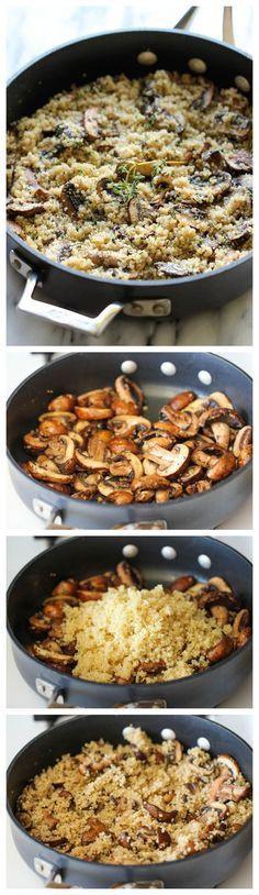 High Fiber Side Dishes  25 best ideas about Mushroom quinoa on Pinterest