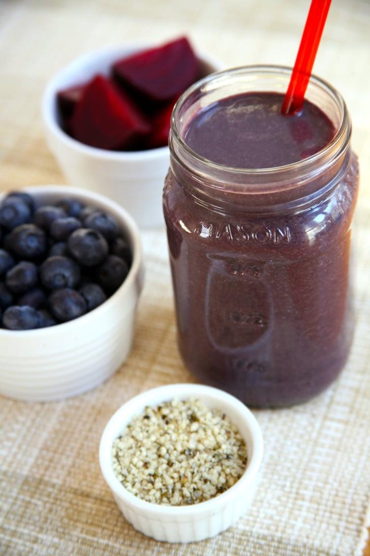 High Fiber Smoothie Recipes  Beet Blueberry Chocolate Protein Smoothie
