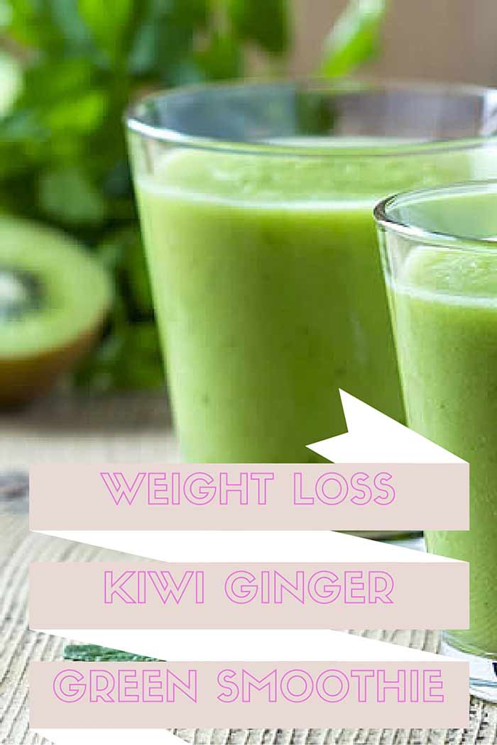 High Fiber Smoothie Recipes Weight Loss  Weight Loss Kiwi Ginger Green Smoothie Recipe