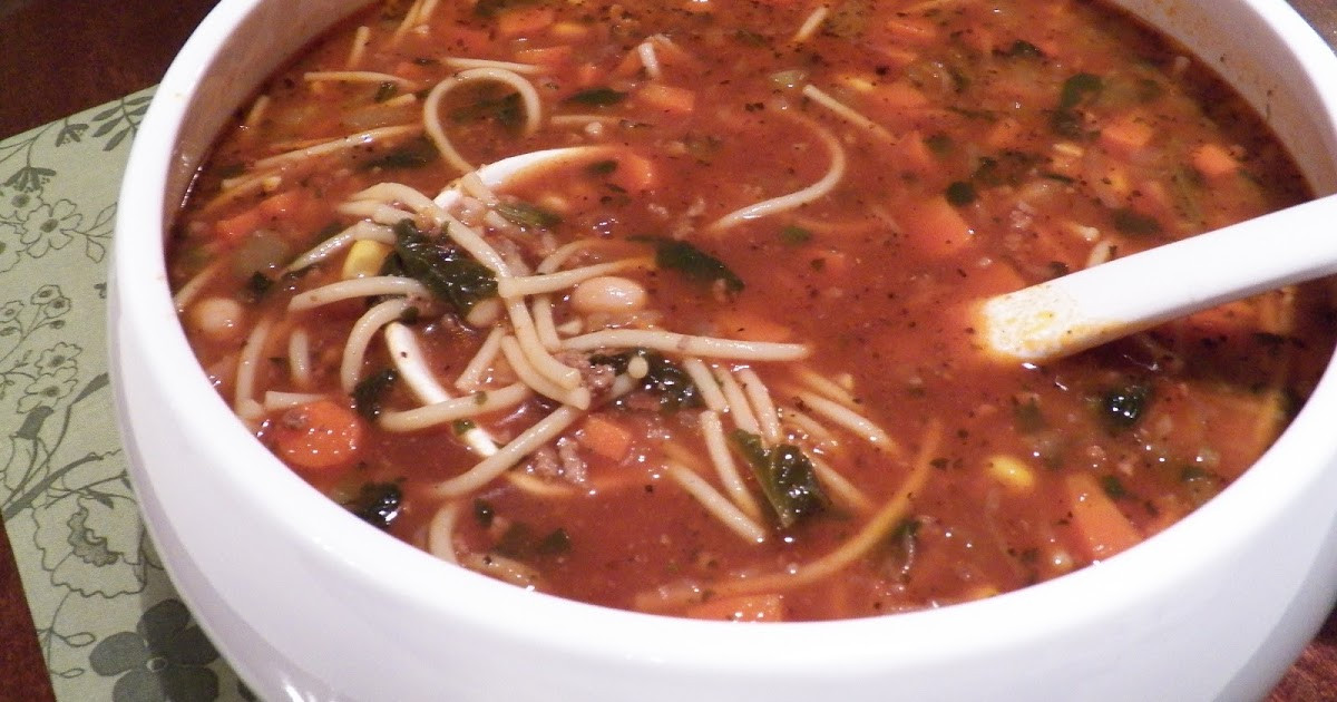 High Fiber Soup Recipes  MINESTRONE SOUP WITH HIGH FIBER PASTA
