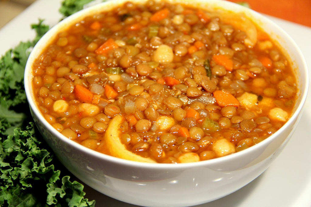 High Fiber Soup Recipes  High Protein and High Fiber Chickpea and Lentil Soup