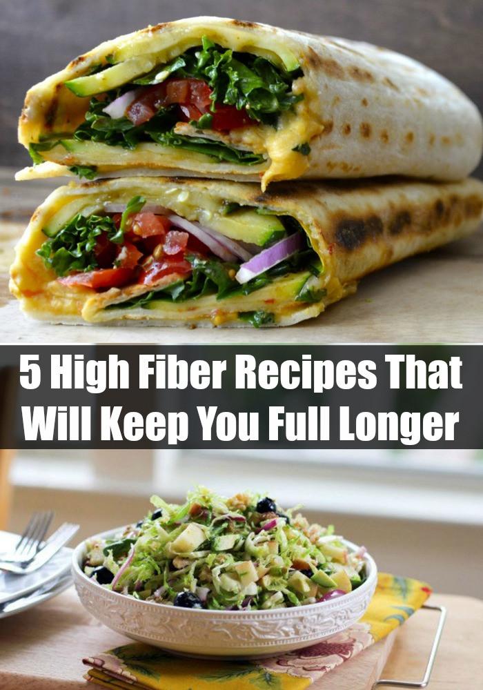 High Fiber Vegetarian Recipes  5 High Fiber Recipes That Will Keep You Full Longer
