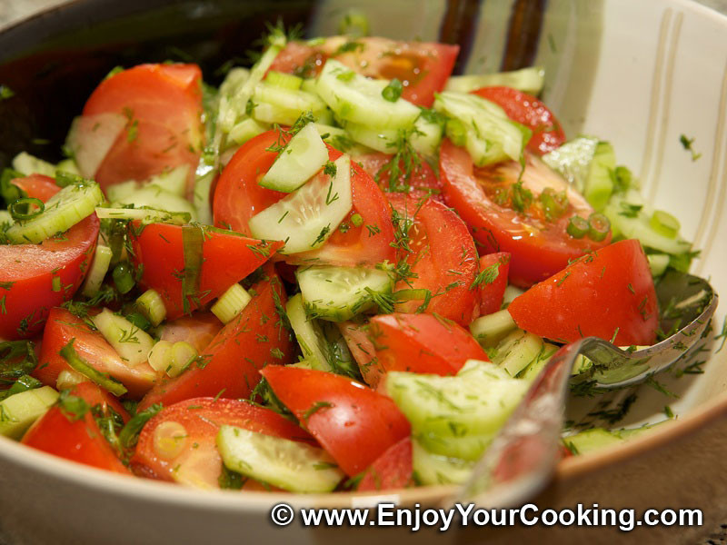 Indian Salad Recipes For Weight Loss  Summer Salad with Tomatoes and Cucumbers Recipe