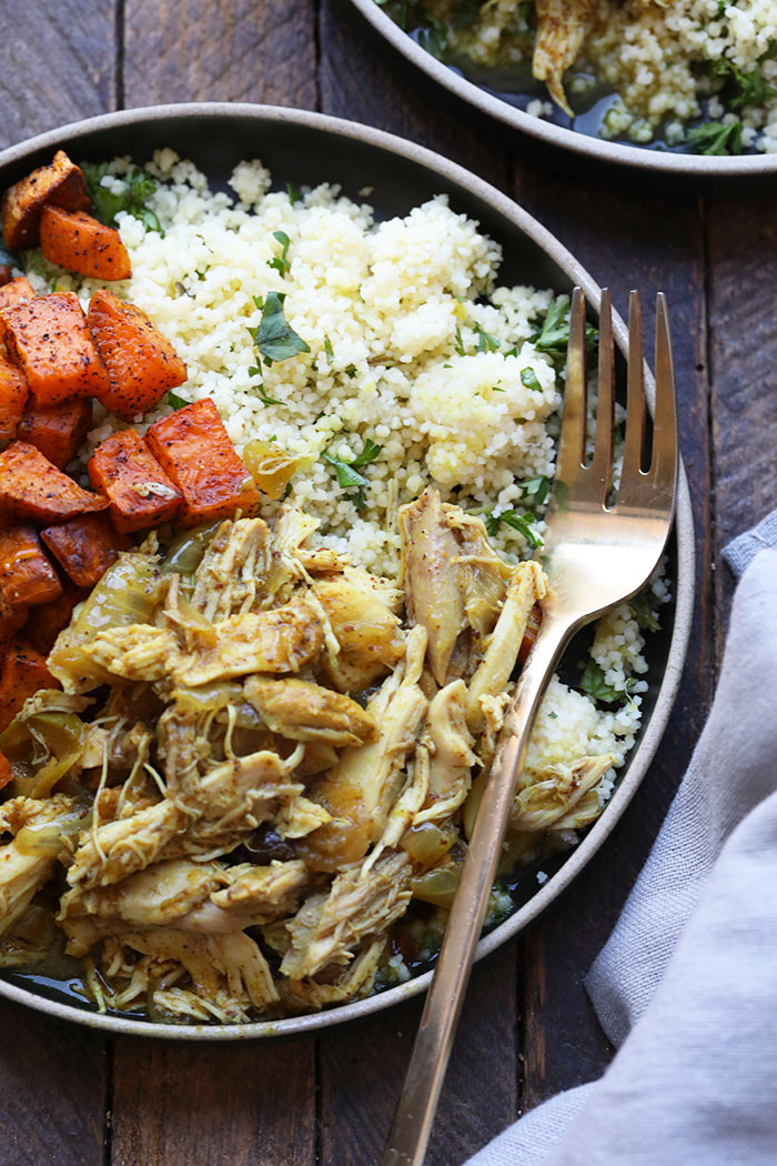 Instant Pot Chicken Thighs Keto  Instant Pot Moroccan Chicken Bowls keto Fit Foo Finds
